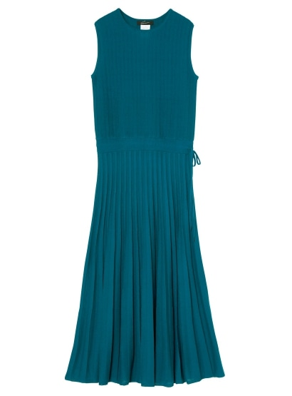 プリーツニットドレス