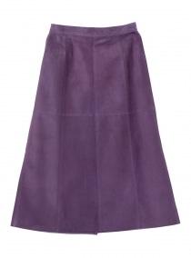 スウェードAラインスカート