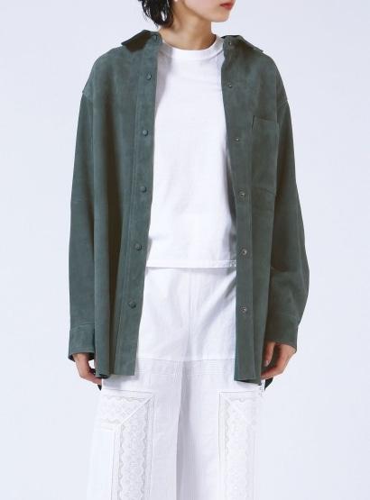 ゴートスウェードシャツ