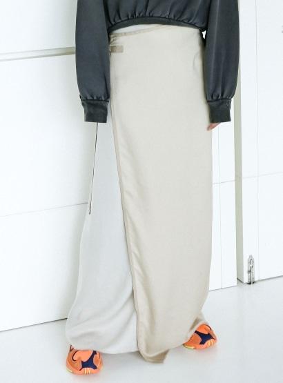 ロング巻きスカート