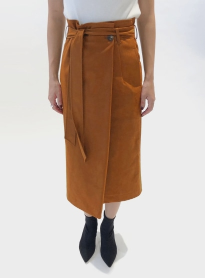 エコスウェードラップスカート