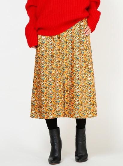 コモプリントAラインスカート