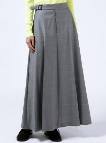 ウーステッドロングスカート