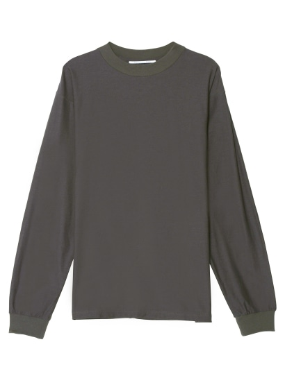 MOCK NECK LONG SLEEVE TEE