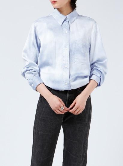 オーバーダイサテンシャツ