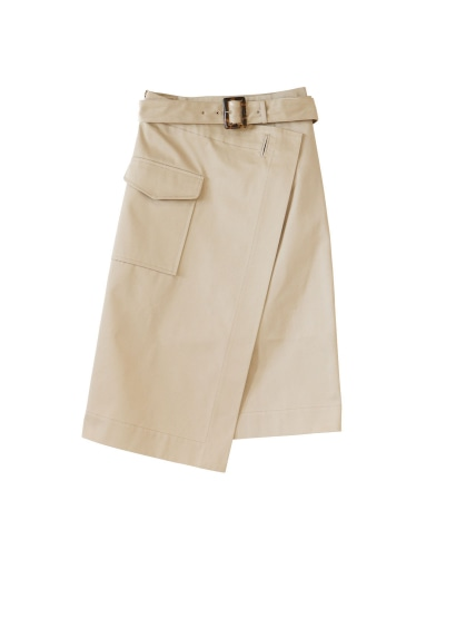 トレンチラップスカート
