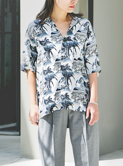 レーヨンショートスリーブシャツ